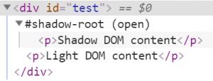 light-dom & shadow-dom