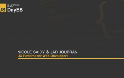 UX Patterns for Web Developers by Nicole Saidy and Jad Joubran
