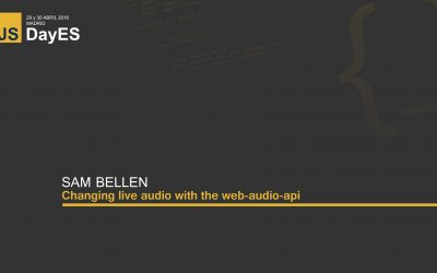 Changing live audio with the web-audio-api by Sam Bellen